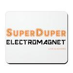 SuperDuper Electromagnet (on White) Mousepad