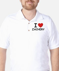 I love Zachery Golf Shirt