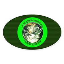 End Global Whining Oval Decal