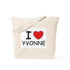 I love Yvonne Tote Bag