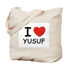 I love Yusuf Tote Bag