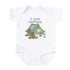 I Love Camping (Girl) Infant Bodysuit