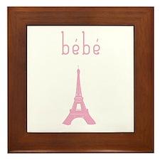 Bebe Girl Eiffel Tower Framed Tile