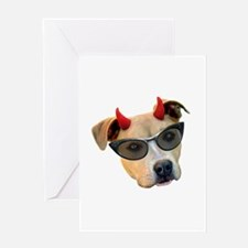 Devil Dog Sunglasses Greeting Card