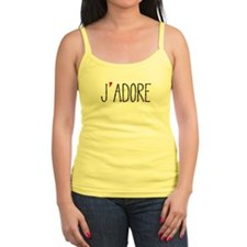 Je adore, french word art with red heart Tank Top