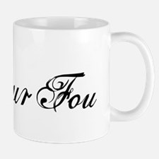 Amour fou, french word art with red heart Mug