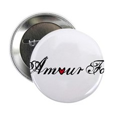 "Amour fou, french word art with red heart 2.25"" Bu"
