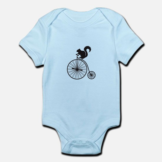 squirrel on vintage bicycle Body Suit