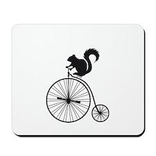 squirrel on vintage bicycle Mousepad