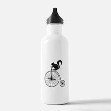 squirrel on vintage bicycle Water Bottle