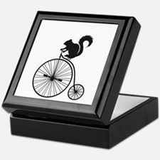 squirrel on vintage bicycle Keepsake Box