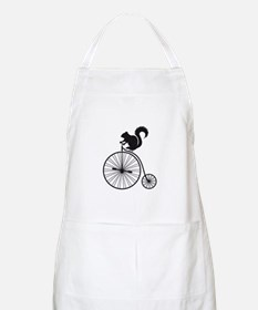 squirrel on vintage bicycle Apron