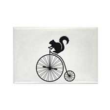 squirrel on vintage bicycle Rectangle Magnet
