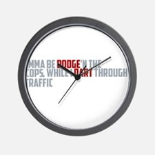 dodge traffic Wall Clock