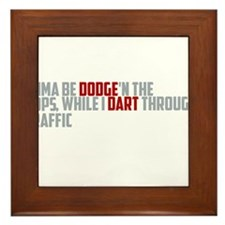 dodge traffic Framed Tile