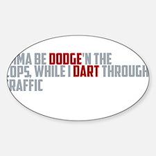 dodge traffic Decal
