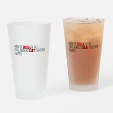 dodge traffic Drinking Glass