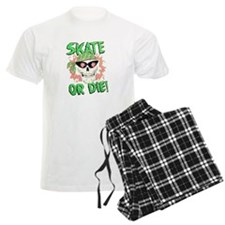 Retro 80s Skate or Die Skull Pajamas