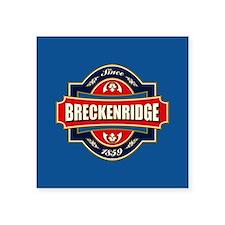 """Breckenridge Old Label Square Sticker 3"""" x 3"""""""