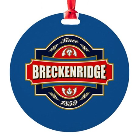 Breckenridge Old Label Round Ornament