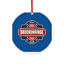 Breckenridge Old Label Ornament (Round)