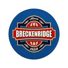"""Breckenridge Old Label 3.5"""" Button"""