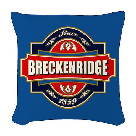 Breckenridge Old Label Woven Throw Pillow
