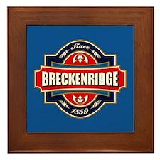 Breckenridge Old Label Framed Tile