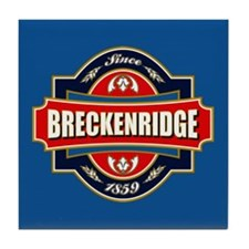 Breckenridge Old Label Tile Coaster