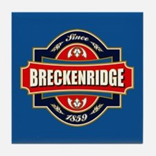 Breckenridge Old Label Tile Coaster