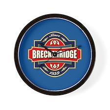 Breckenridge Old Label Wall Clock
