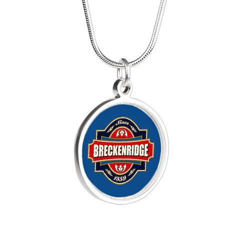 Breckenridge Old Label Silver Round Necklace