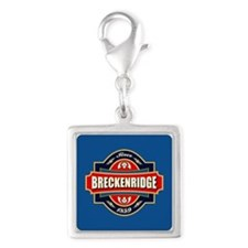 Breckenridge Old Label Silver Square Charm