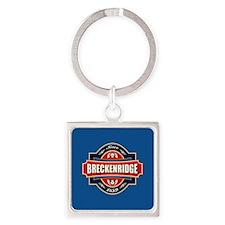 Breckenridge Old Label Square Keychain