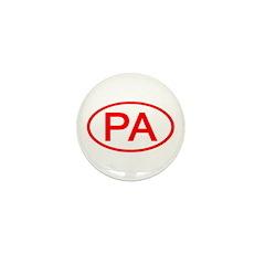 PA Oval - Pennsylvania Mini Button (100 pack)