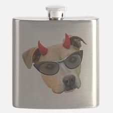 Devil Dog Glasses Flask