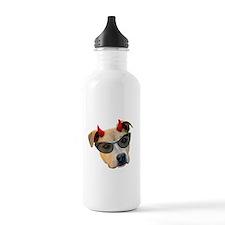 Devil Dog Glasses Water Bottle