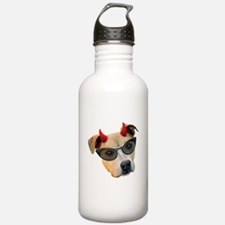 Devil Dog Glasses Water Bottle