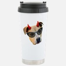 Devil Dog Glasses Travel Mug