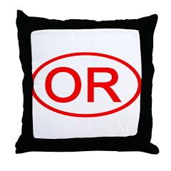 OR Oval - Oregon Throw Pillow
