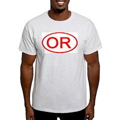 OR Oval - Oregon Ash Grey T-Shirt