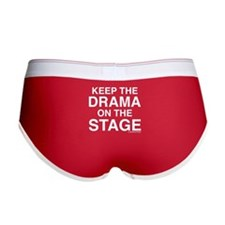 KEEP THE DRAMA ON THE STAGE (white text) Women's B