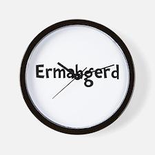 Ermahgerd Wall Clock