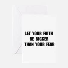 Faith Bigger Than Fear Greeting Cards (Pk of 20)