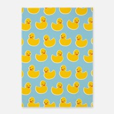 Cute Ducky Pattern 5'x7'Area Rug
