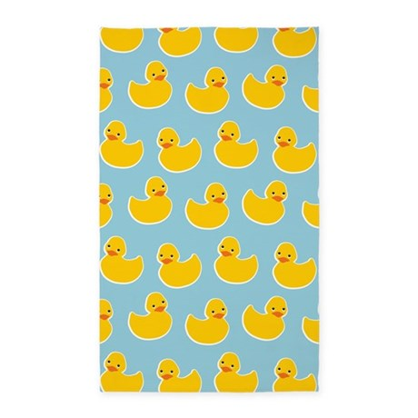 Cute Ducky Pattern 3'x5' Area Rug