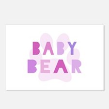 Baby bear - baby girl Postcards (Package of 8)