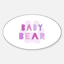 Baby bear - baby girl Decal
