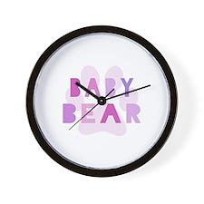 Baby bear - baby girl Wall Clock