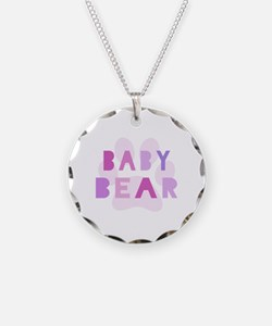 Baby bear - baby girl Necklace